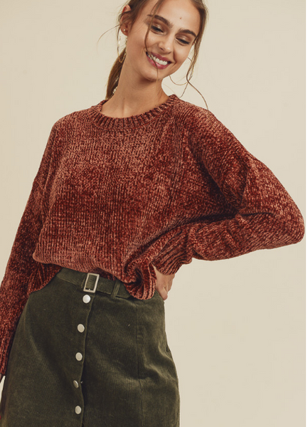In Loom Chenille Sweater