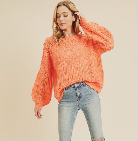 In Loom Coral Sweater