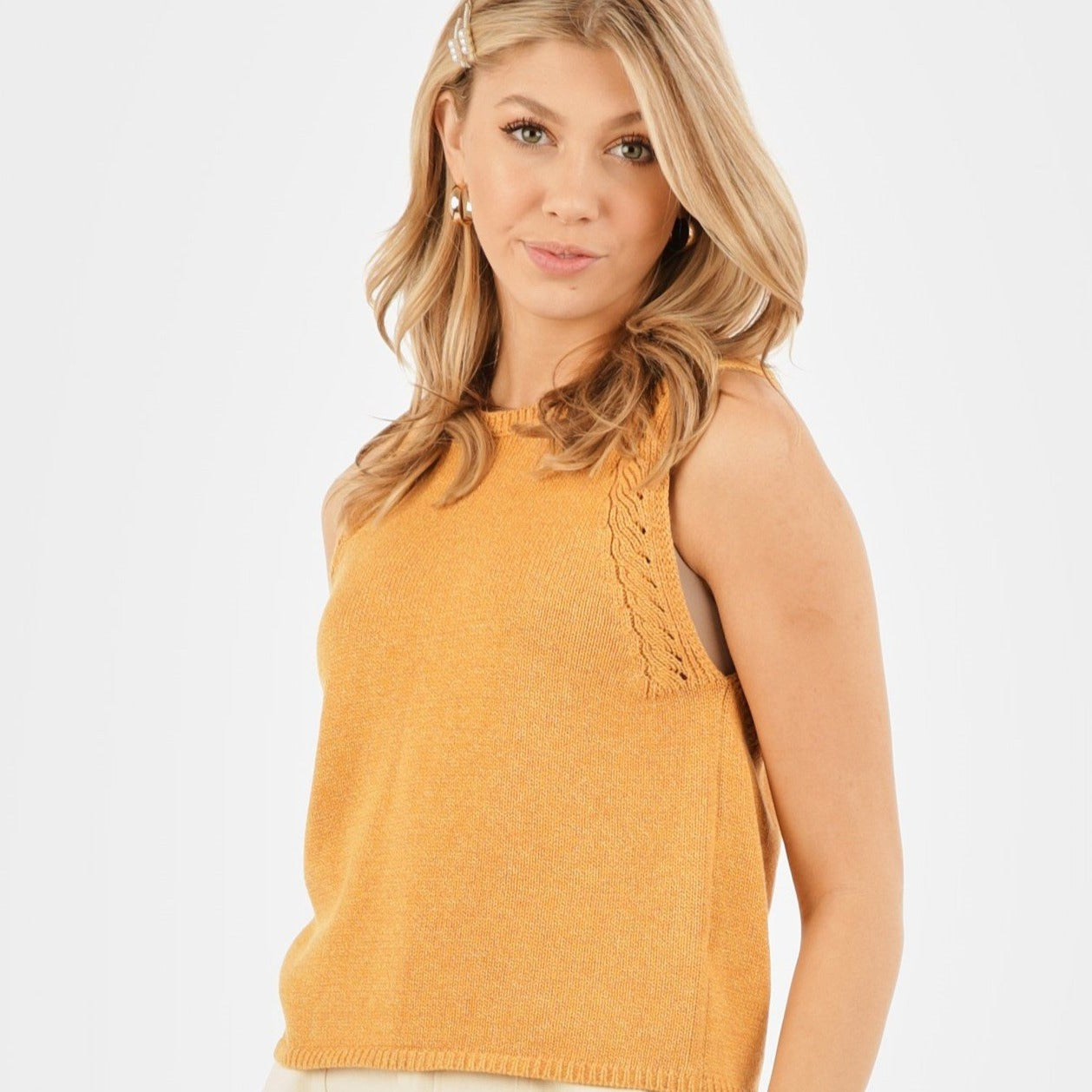 Very J Sleeveless Knit Tank
