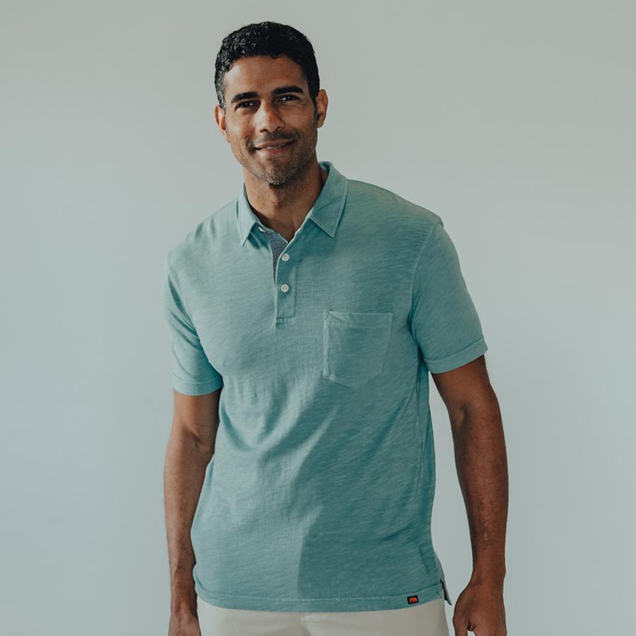 The Normal Brand Polo Light Indigo