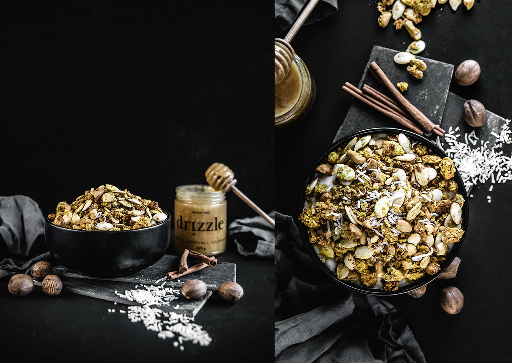 Turmeric Gold Honey Granola – Drizzle Honey