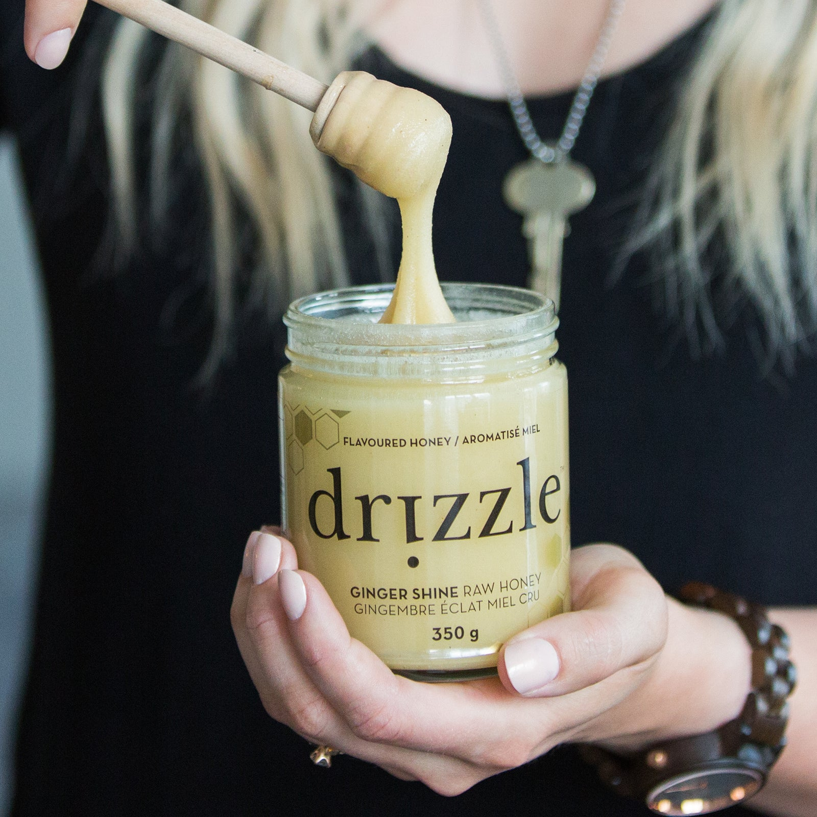 Drizzle Ginger Shine Raw Honey - Immunity Boost Blend