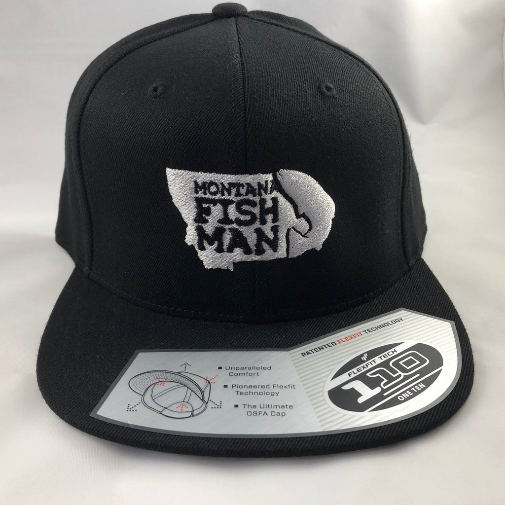 Montana Fish Man Logo FlexFit 110 Cap