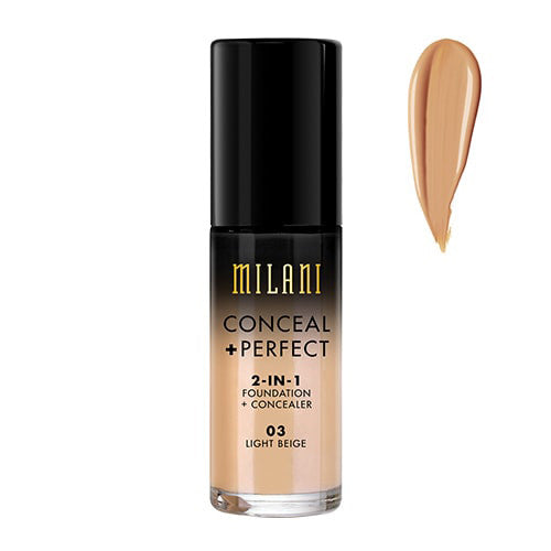 Milani Light Beige Conceal + Perfect 2-in-1 Foundation + Concealer