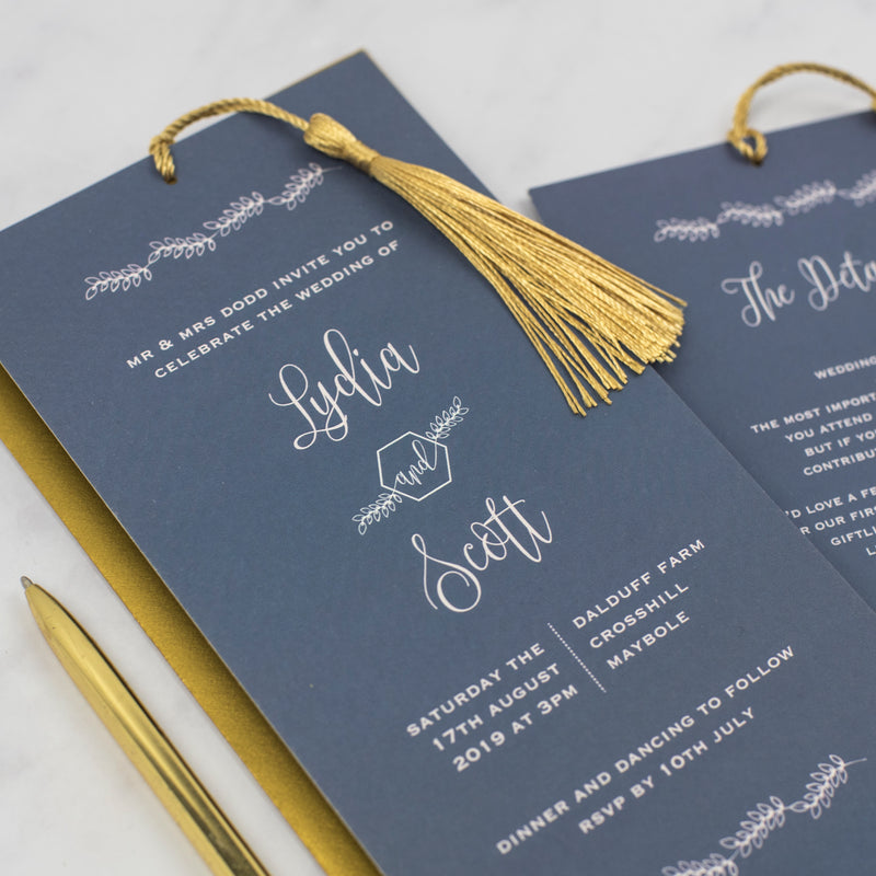 Lydia Luxury Wedding Invitation