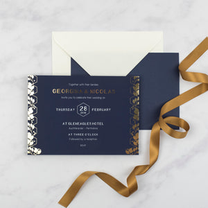 Georgina Gold Foil Wedding Invitation