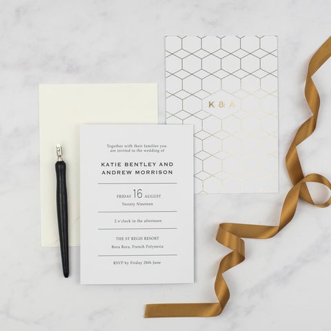 Angela Kraft Wedding Invitation