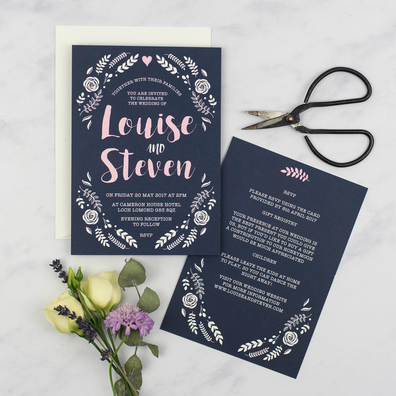Louise Floral Wedding Invitation