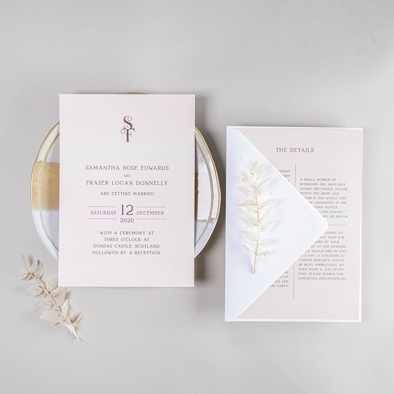 Samantha Wedding Invitation