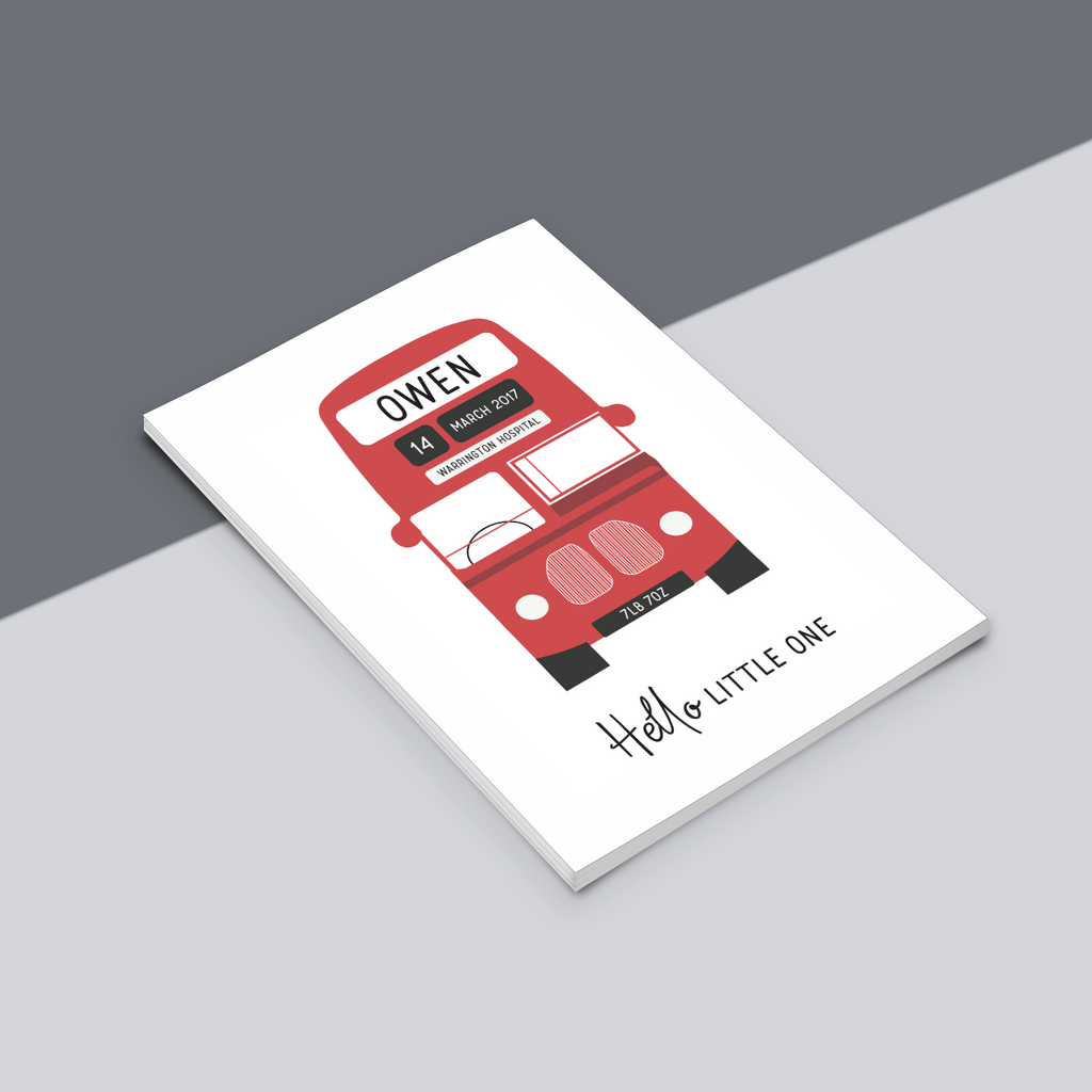 Personalised Bus Print