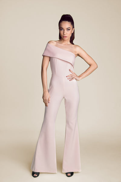 MUSE - PINK OFF THE SHOULDER JUMPSUIT