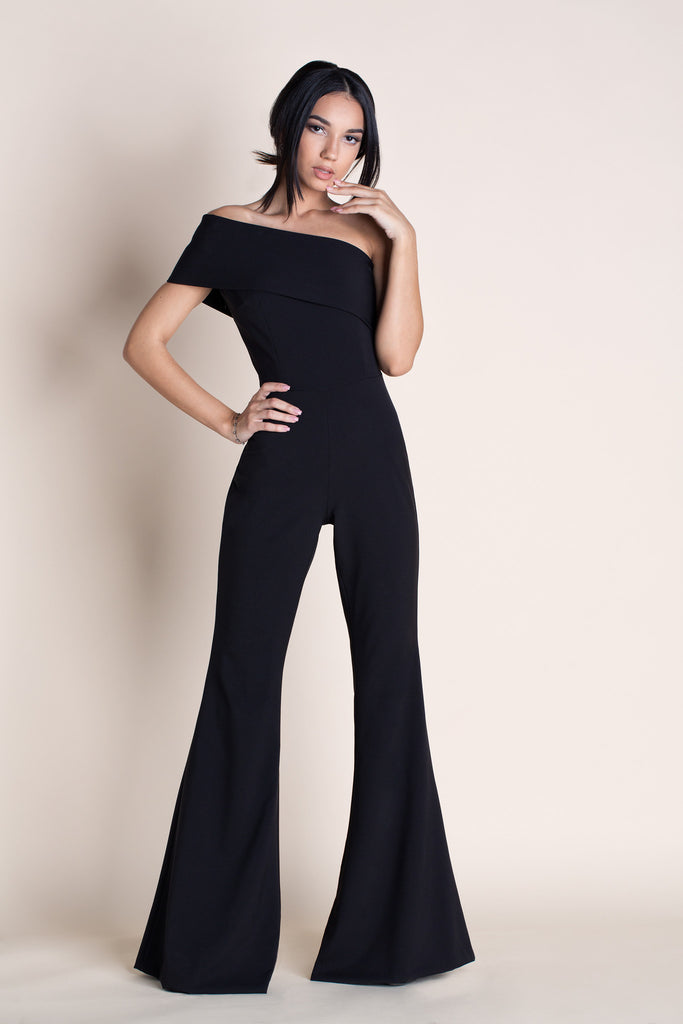 MUSE - BLACK OFF THE SHOULDER JUMPSUIT
