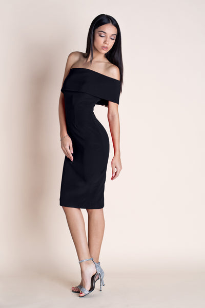 MUSE - OFF THE SHOULDER DRESS - BLACK