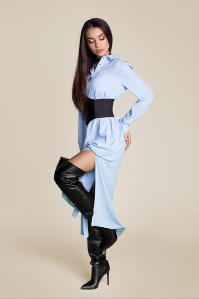 CLOUDLESS SKIES SHIRT DRESS