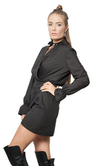 DROP-DEAD GORGEOUS WRAP STYLE MINI DRESS
