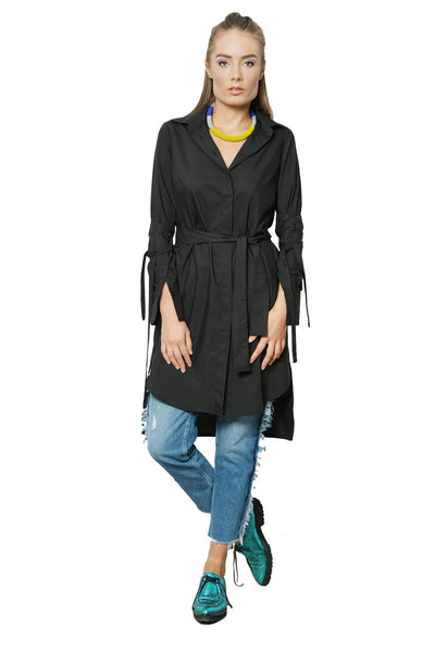 CITY STREETS SHIRT-DRESS BLACK