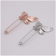 BROSA SAFETY-PIN GOLD BUTTERFLY