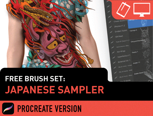 Design Challenge: Japanese Procreate Set
