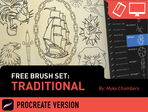 Design Challenge: Traditional Procreate Set