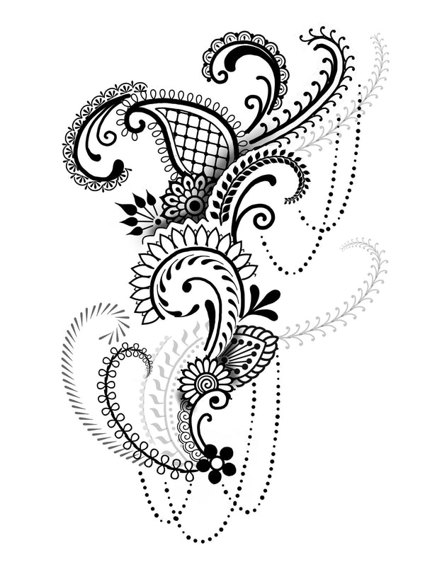 Henna Style Tattoos Lace Tattoo: Brush Set: Henna By Cory Ferguson (Procreate®)