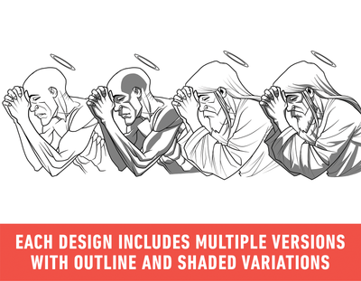 Brush Set: Illustrative Poses Vol. 1