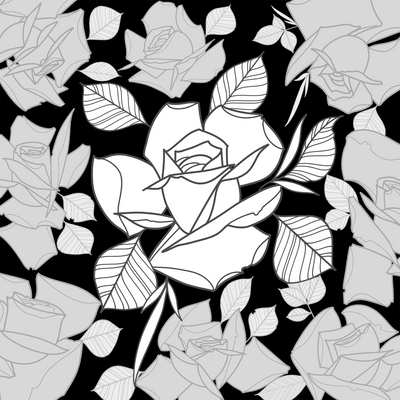Brush Set: Roses