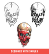 Brush Set: Skulls