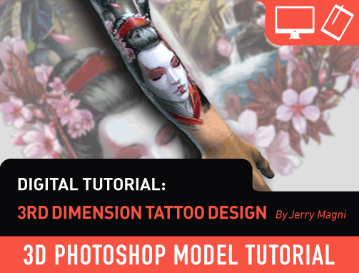 Digital Tutorials: 3rd Dimension Tattoo Design by Jerry Magni