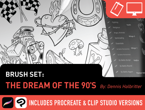 Brush Set: The Dream of the 90's