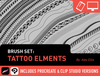 Brush Set: Tattoo Elements by Alex Ellis