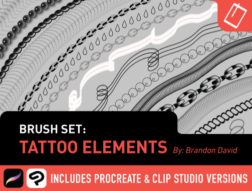 Brush Set: Tattoo Elements by Brandon David