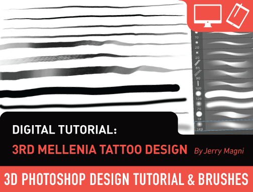 Digital Tutorials: 3rd Millenia Tattoo Design by Jerry Magni
