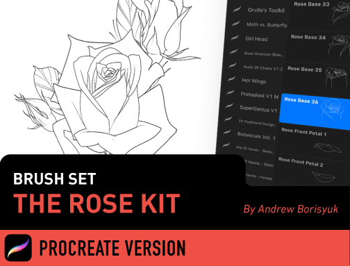 Brush Set: The Rose Kit