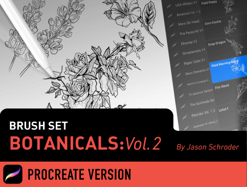 Brush Set: Botanicals Vol. 2