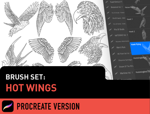 Brush Set: Hot Wings