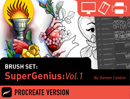 Brush Set: SuperGenius Vol. 1