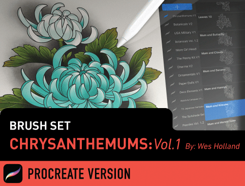 Brush Set: Chrysanthemums Vol. 1