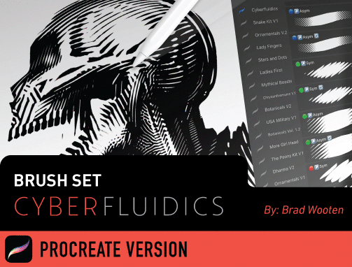 Brush Set: Cyberfluidics