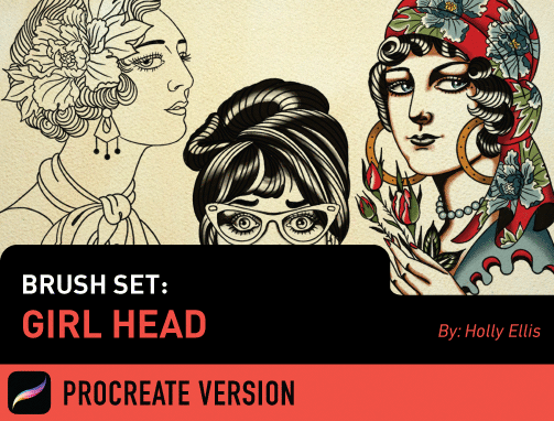 Brush Set: Girl Head
