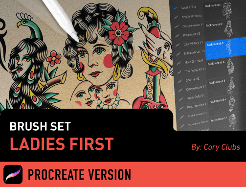 Brush Set: Ladies First