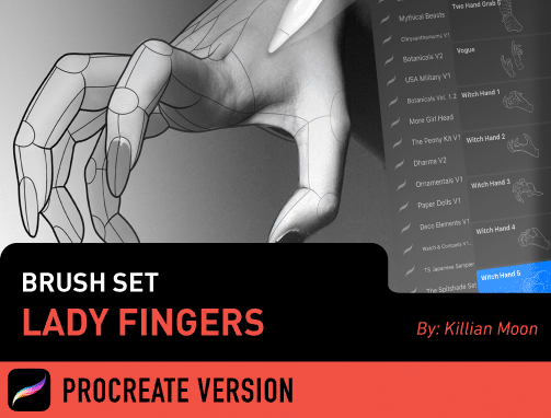 Brush Set: Lady Fingers