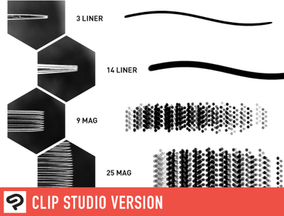 Brush Set: Liners & Mags by Russ Abbott (Clip Studio®)