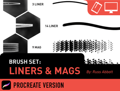 Brush Set: Liners & Mags (Procreate®)