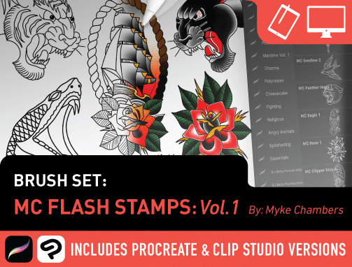 Brush Set: MC Flash Stamps Vol. 1