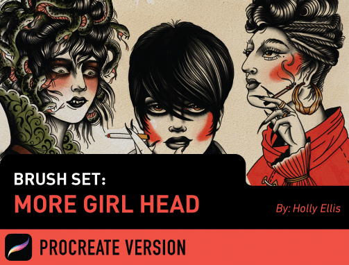Brush Set: More Girl Head