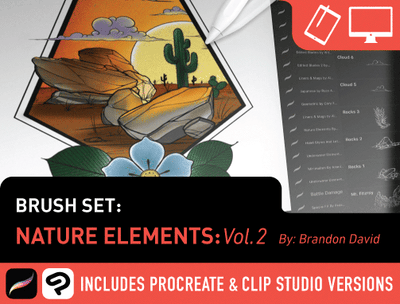 Brush Set: Nature Elements Vol. 2