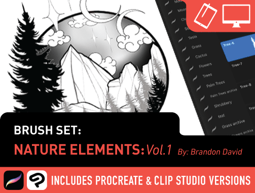 Brush Set: Nature Elements Vol. 1