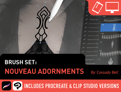Brush Set: Nouveau Adornments