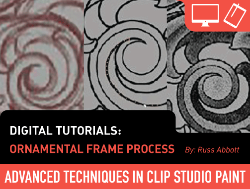 Digital Tutorials: Ornamental Frame Process (Clip Studio #2)