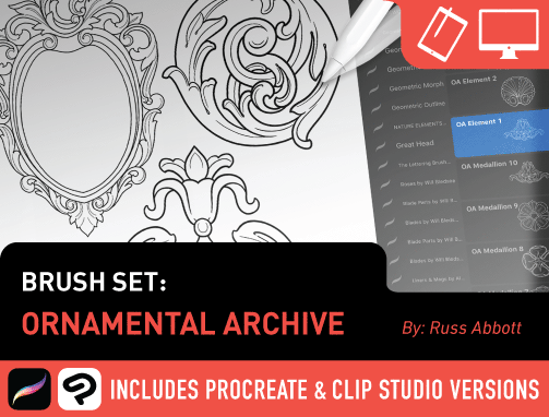 Brush Set: Ornamental Archive